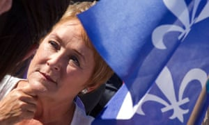 Parti Quebecois leader Pauline Marois at a campaign stop in Chateauguay, Quebec on September 1 2012.