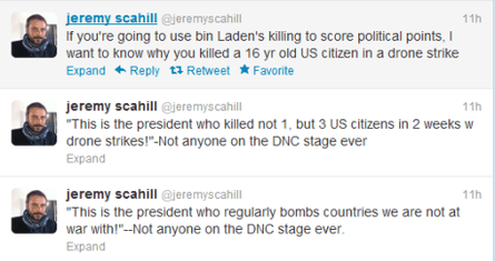 scahill tweets dnc