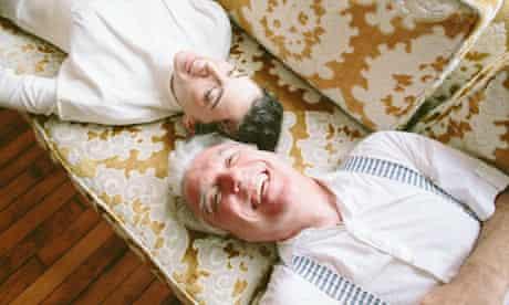 David Byrne smiles