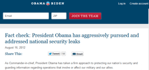 Obama truth squad leaks