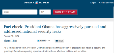 Obama truth squad leaks
