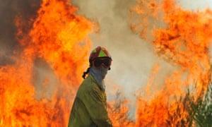 wildfire in Contencas de Cima, central Portugal