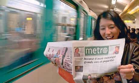 Commuter on the Paris Métro