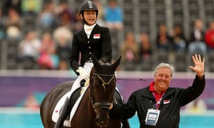 Profoundly deaf equestrian Laurentia Tan of Singapore during the London 2012 Paralympic Games.
