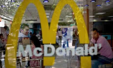 A regular McDonald's in New Delhi