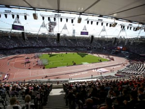 A beautiful morning in the Olympic Stadium on day 7 of the Paralympic Games.