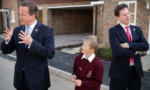 David Cameron and Nick Clegg in Cheshunt