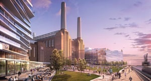 Battersea power station: 2012: The power station forms the centre point of the redvelopment