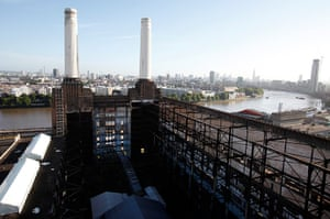 Battersea power station: 2012: Two of the four iconic smokestacks