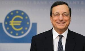 European Central Bank (ECB) President Mario Draghi  smiles as he speaks during the monthly news conference in Frankfurt September 6, 2012.