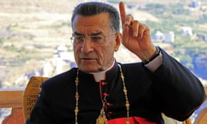 Lebanon's Maronite Christian Patriarch Bishara Rai speaks during an interview with AFP in his summer residence in Diman in northern Lebanon on September 6, 2012.