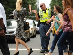Democratic National Convention traffic cops