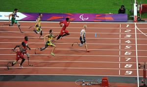 100m: Great Britain's Jonnie Peacock