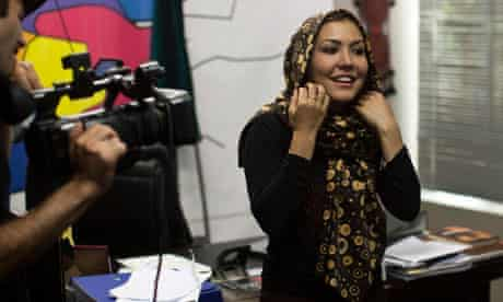 Sahar Parniyan, pictured on the set of The Ministry