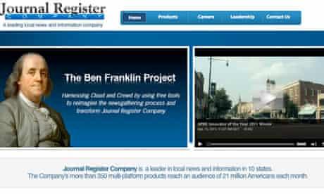 Journal Register website front page