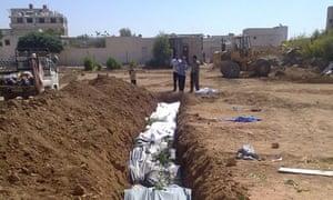 A mass grave in Daraya