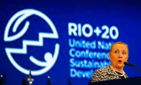 US Secretary of State Hillary Clinton at Rio+20