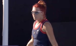 Britain's Jordanne Whiley plays for the bronze medal in the women's doubles on 7 September 2012.