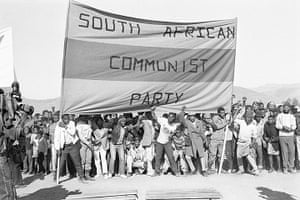 Apartheid gallery: SACP banner displayed at the funeral of the Cradock 4