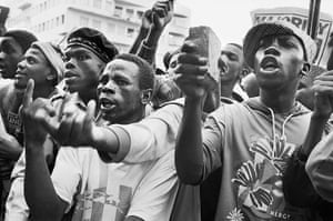 Apartheid gallery: Protest against Chris Hani's assassination, 1993