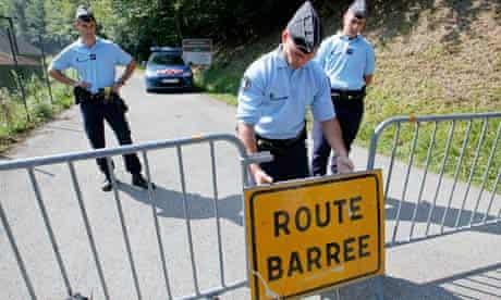 Gendarmes near Chevaline, 7 September 2012