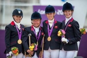 Gold medals: Sophie Wells, Lee Pearson, Deborah Criddle, Sophie Christainsen