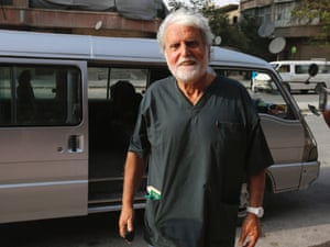 Jacques Beres, 71-year-old French surgeon and co-founder of the humanitarian organisations Doctors Without Borders and Doctors of the World, during his stint in Aleppo.