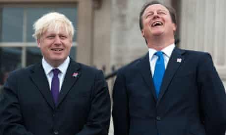 David Cameron (R) and Boris Johnson