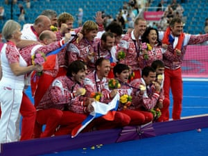 Last, but certainly not least ... the Russian 7-a-side football team celebrate with their gold medals after clinching a narrow 1-0 victory over the Ukraine in the final fixture of the London 2012 Games ... All that remains now is the closing ceremony tonight, and the parade tomorrow.