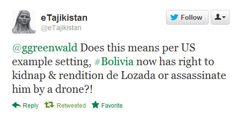America's refusal to extradite Bolivia's ex-president to