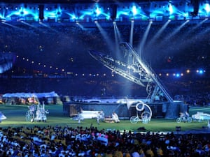 Paralympic Games closing Ceremony at the Olympic Stadium, London.