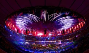 Fireworks at the London 2012 Paralympics closing ceremony