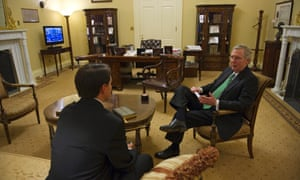 Senate minority leader Mitch McConnell in his office at the US Capitol.