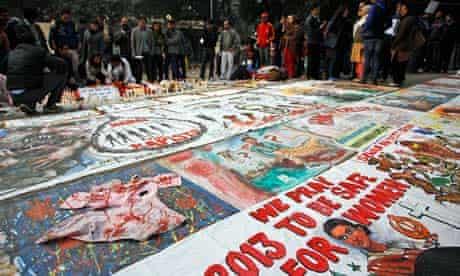 Indian gang rape protest