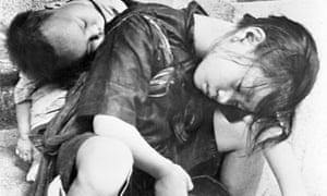 famine - starving children in Shanghai