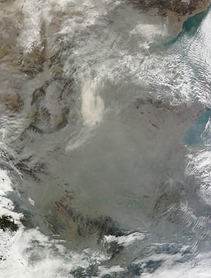 Satellie Eye on Earth: Haze hovered over eastern China