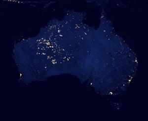 Satellie Eye on Earth: City Lights of Australia, or Not