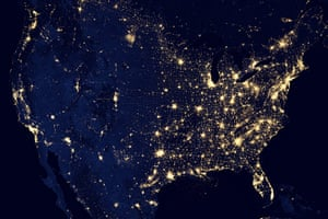 Satellie Eye on Earth: City Lights of the United States 2012