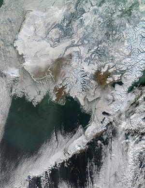 Satellie Eye on Earth: Snow in Alaska