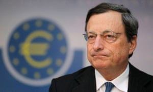 European Central Bank (ECB) President Mario Draghi speaks during the monthly news conference in Frankfurt in this  August 2, 2012 file photo.