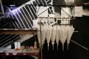 My Fair Lady: Props await collection in the 'vomits' below stage
