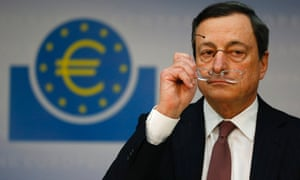 Mario Draghi, President of the European Central Bank (ECB), addresses the media during his monthly news conference in Frankfurt, January 10, 2013.