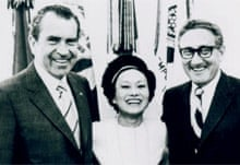Anna Chennault, with Richard Nixon and Henry Kissinger, in 1972