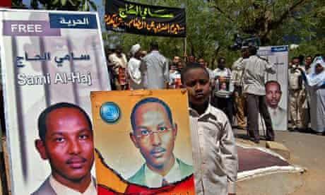 Sudan protest in 2007 in support of al-Jazeera cameran Sami al-Hajj
