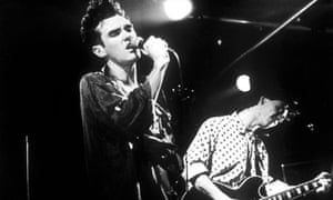 Morrissey and Marr onstage during the Smiths 80s heyday.