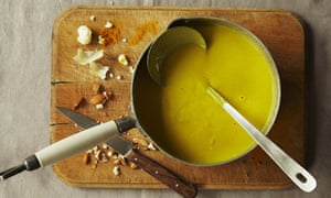 Cauliflower, almond and turmeric soup - for Cook section