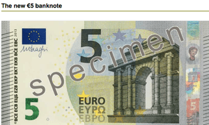 New €5 note
