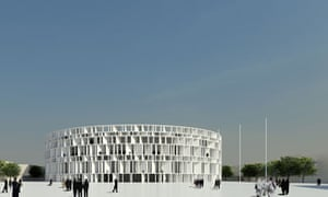 Architectural illustration of the new Iraqi Parliament in Baghdad