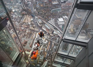 Shard view: A construction team carries out checks on the exterior