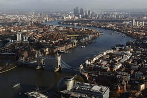 Shard view: Tower Bridge and the Thames
